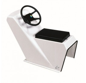 Zodiac Accessories Jockey console single seat + cable 10 ft - Cadet RIB 390 Neoprene - French Riviera